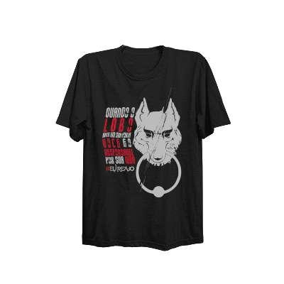 Camiseta - Lobo - Eu Reajo